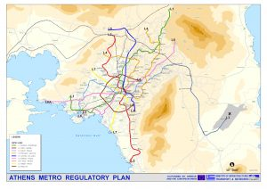 Subway Map Athens Greece.Athens Metro Map Attiko Metro A E