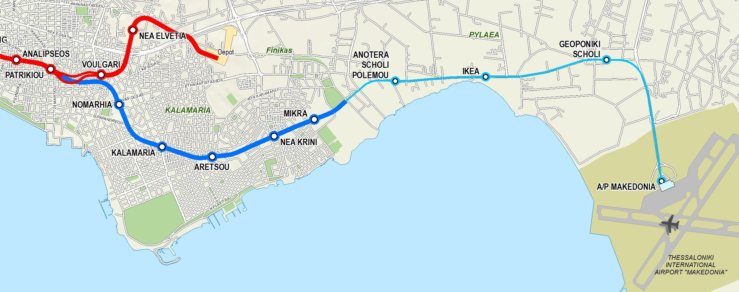 Thessaloniki Metro Map